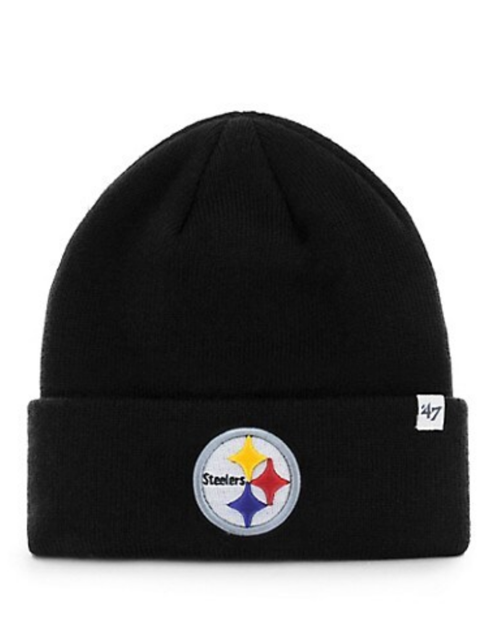 '47 Adult Raised Cuff Knit Pittsburgh Steelers Black