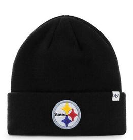 '47 Adult Raised Cuff Knit Pittsburgh Steelers Black