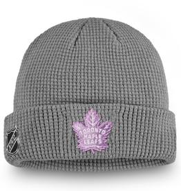 Fanatics Fanatics Adult Hockey Fights Cancer Knit Toronto Maple Leafs Grey