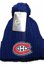 Fanatics Fanatics Adult Primary Logo Beanie With Pom Montreal Canadiens Blue