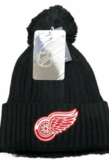 Fanatics Fanatics Adult Primary Logo Beanie With Pom Detroit Red Wings Black