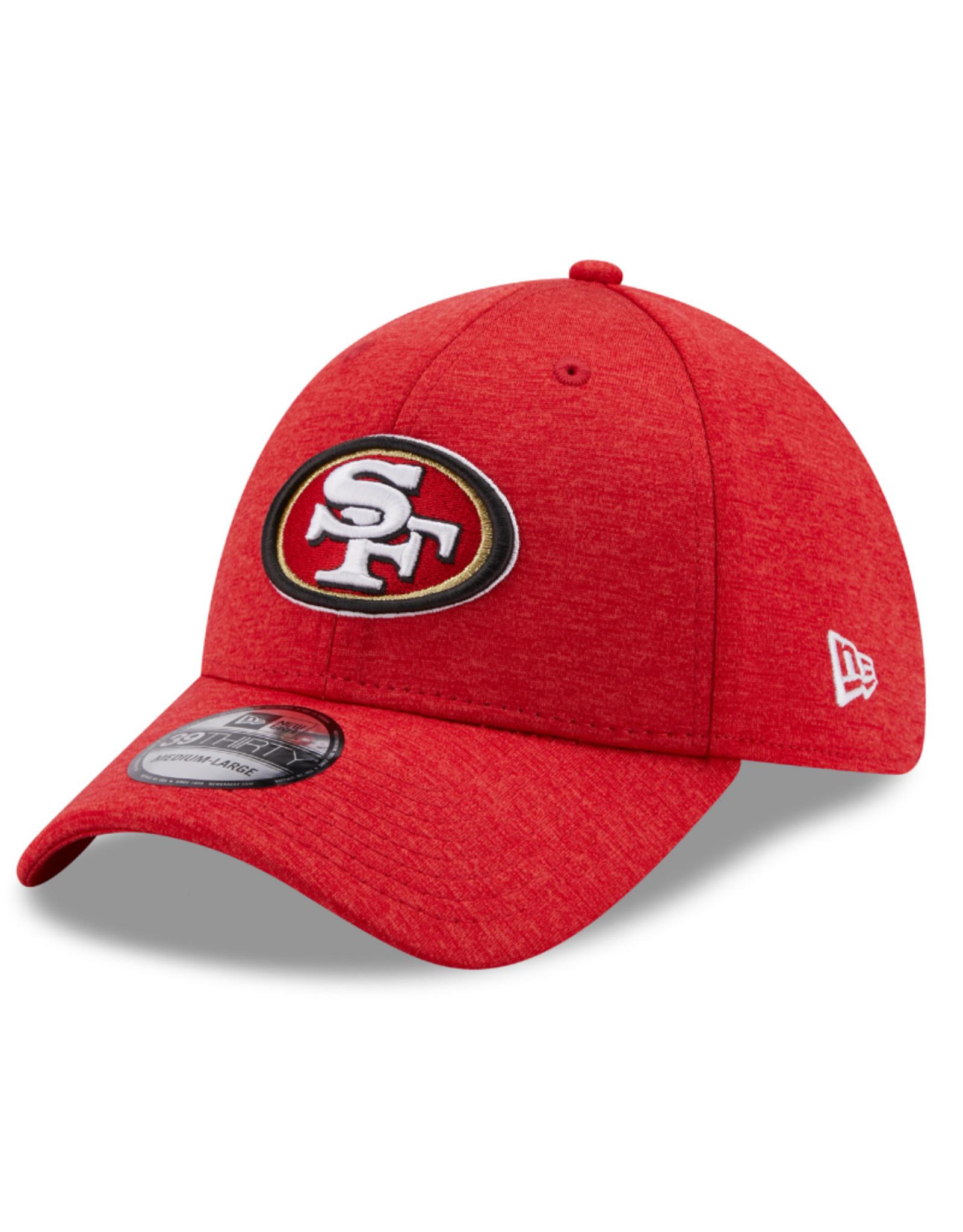 New Era Adult 39THIRTY Shadow B3 Hat San Fransisco 49er's Burgandy