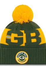 New Era Adult '20 On-Field Sport Knit Green Bay Packers Green/Yellow