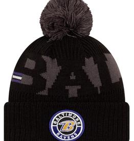 New Era Adult '20 On-Field Sport Knit Baltimore Ravens Black/Grey