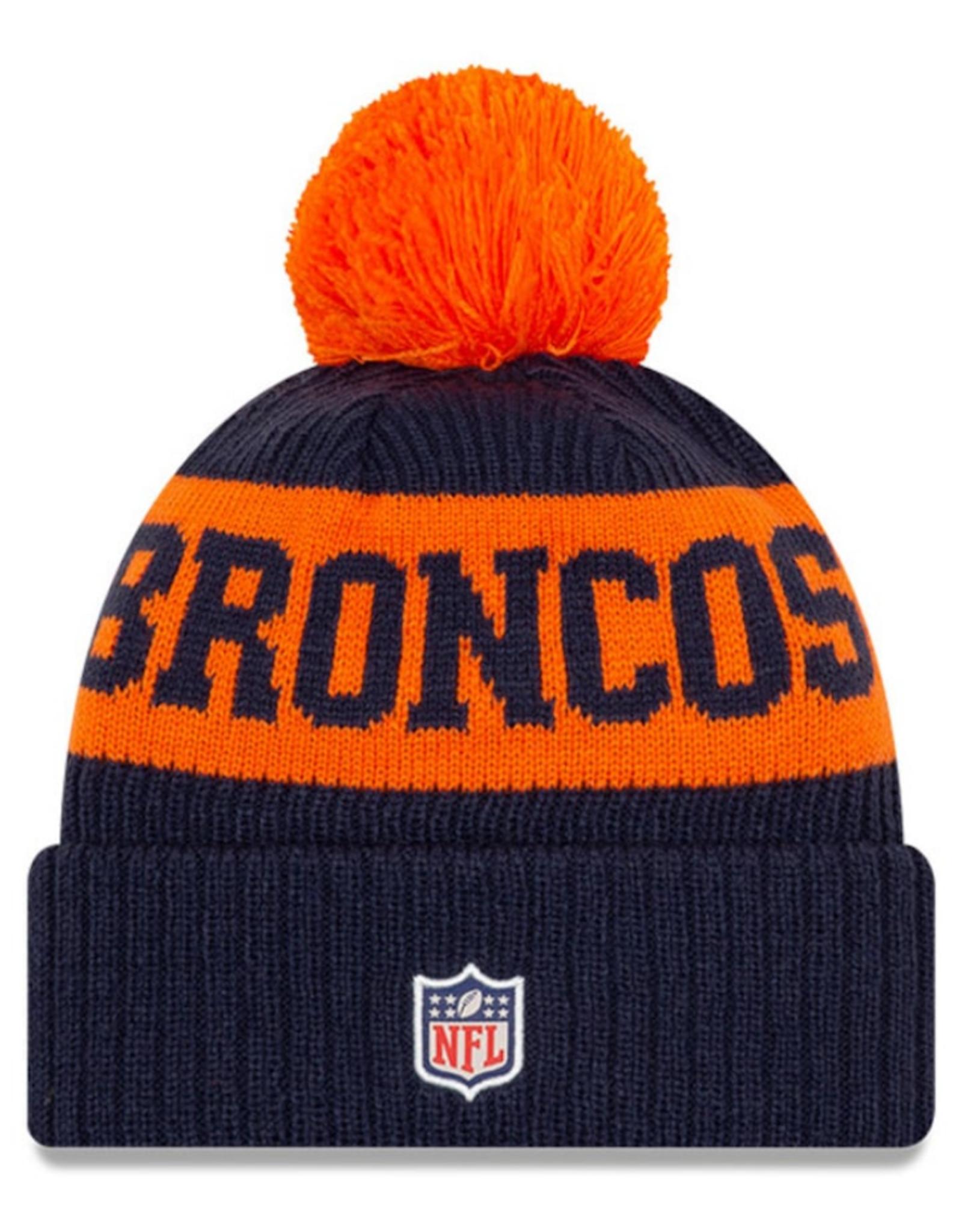 New Era Adult '20 On-Field Sport Knit Denver Broncos Navy/Orange