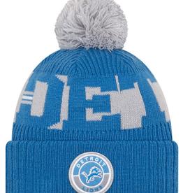 New Era Adult '20 On-Field Sport Knit Detroit Lions Blue/Grey