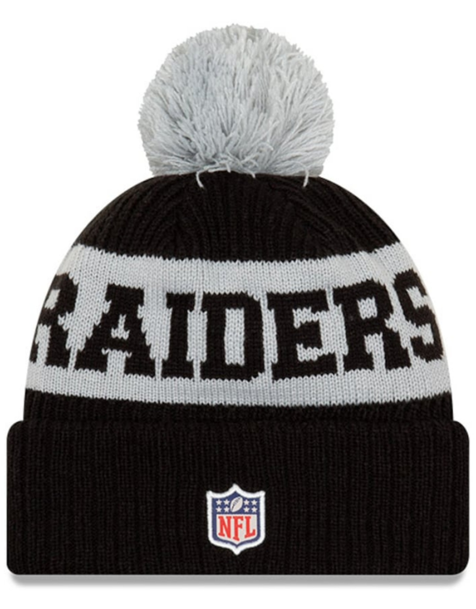 New Era Adult '20 On-Field Sport Knit Las Vegas Raiders Black/Grey