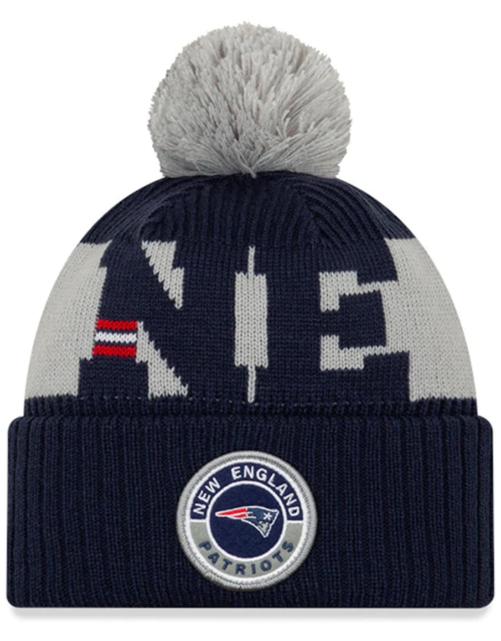 New Era Adult '20 On-Field Sport Knit New England Patriots Navy/Grey