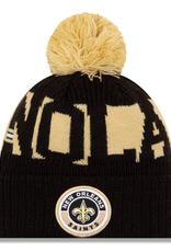 New Era Adult  '20 On-Field Sport Knit New Orleans Saints Black/Gold