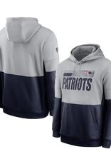 Nike Men's Sideline Hoodie New England Patriots Grey/Navy