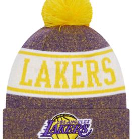 New Era Men's Banner Knit Los Angeles Lakers Purple