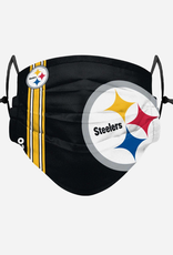 FOCO FOCO Adult Sideline Big Logo Face Cover 1 Pack Pittsburgh Steelers