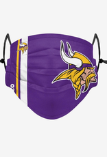 FOCO FOCO Adult Sideline Big Logo Face Cover 1 Pack Minnesota Vikings