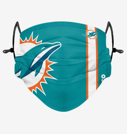 FOCO FOCO Adult Sideline Big Logo Face Cover 1 Pack Miami Dolphins