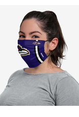 FOCO FOCO Adult Sideline Big Logo Face Cover 1 Pack Baltimore Ravens