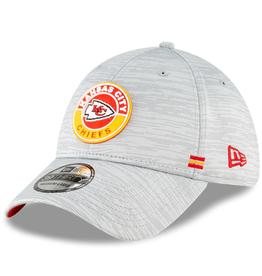 New Era Men's '20 Sideline Official 39THIRTY Hat Kansas City Chiefs Grey