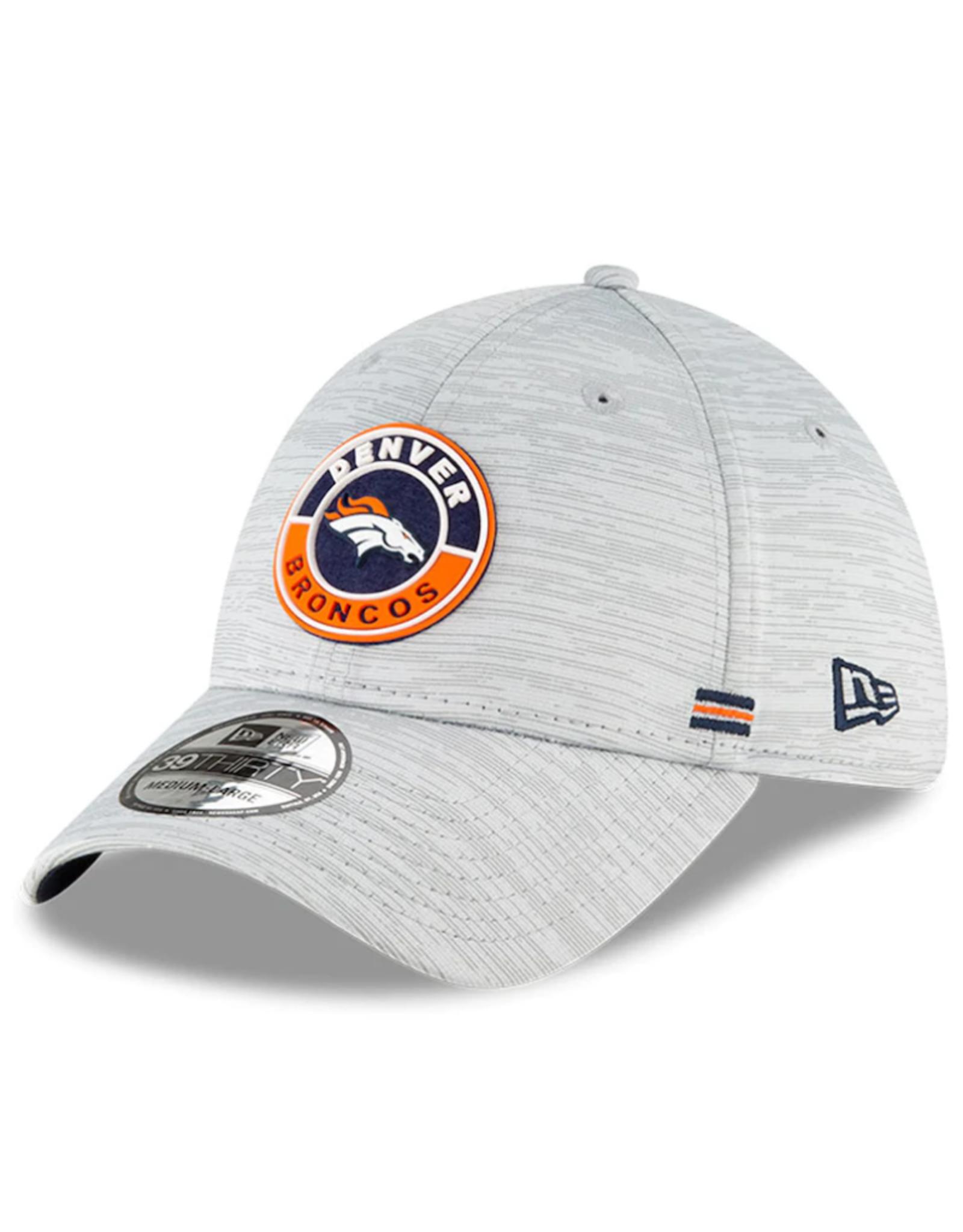 New Era Men's '20 Sideline Official 39THIRTY Hat Denver Broncos Grey