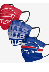 FOCO FOCO Adult Matchday Pleated Face Cover 3 Pack Buffalo Bills