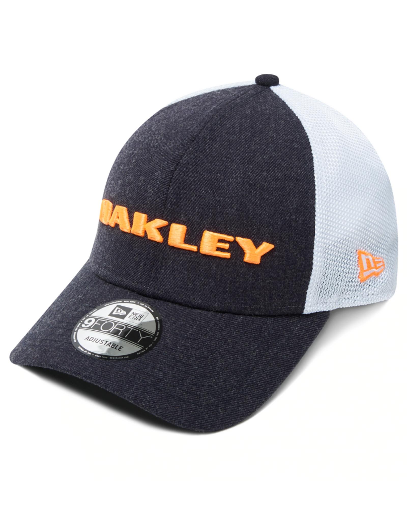 Oakley Men's Heather New Era Adjustable Hat Navy White