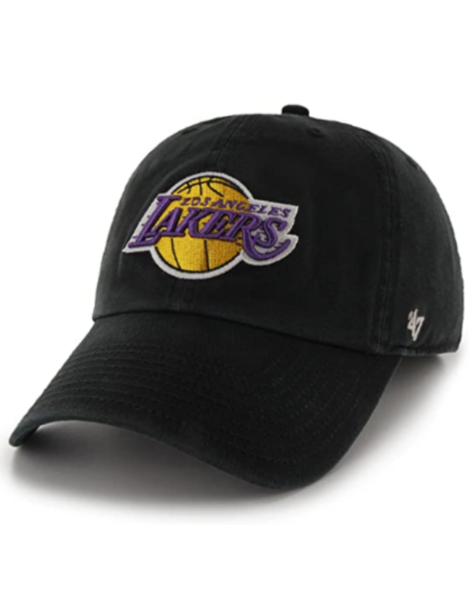 '47 Men's Clean Up Adjustable Hat Los Angeles Lakers Black