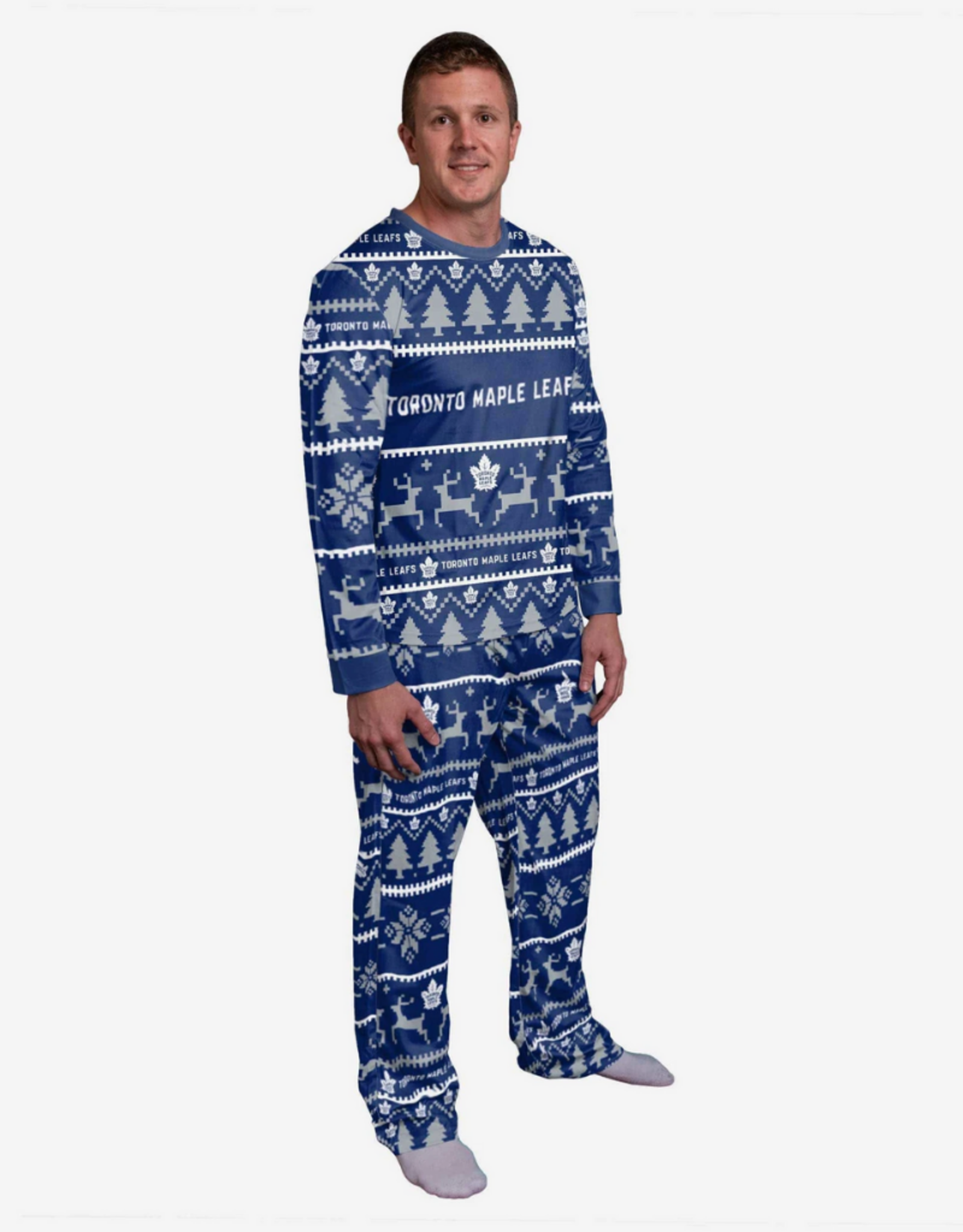Forever Collectables FOCO Men's Holiday Pajama Set Toronto Maple Leafs