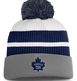 Fanatics Fanatics Men's Retro Reverse Beanie Pom Knit Toronto Maple Leafs Grey