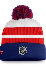 Fanatics Fanatics Men's Retro Reverse Beanie Pom Knit Montreal Canadiens White/Blue