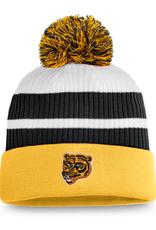 Fanatics Fanatics Men's Retro Reverse Beanie Pom Knit Boston Bruins Yellow/White