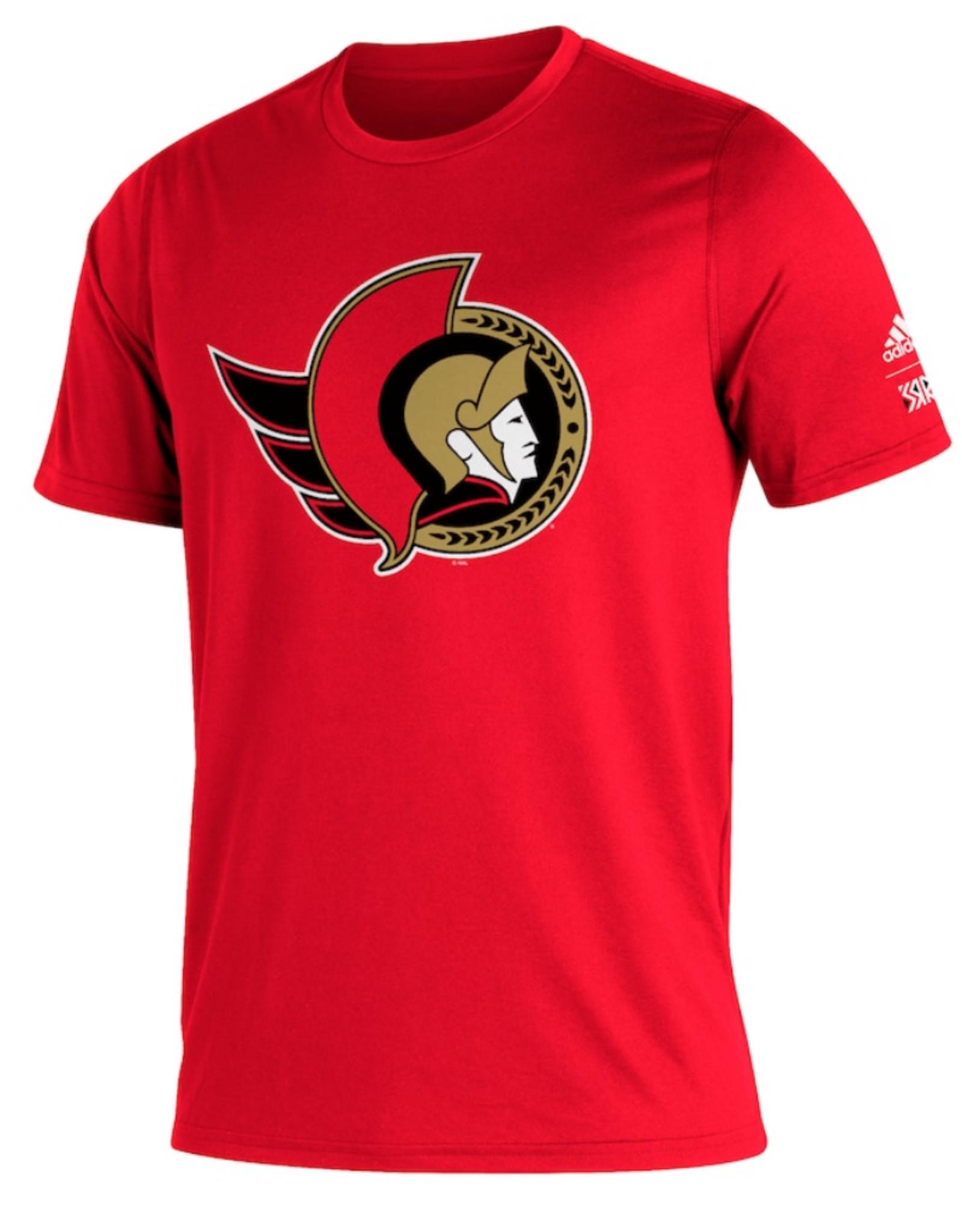 Adidas Adidas Men's Retro Reverse Creator T-Shirt Ottawa Senators Red