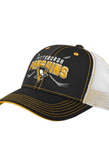 NHL Youth Lockup Mesh Adjustable Hat  Pittsburgh Penguins