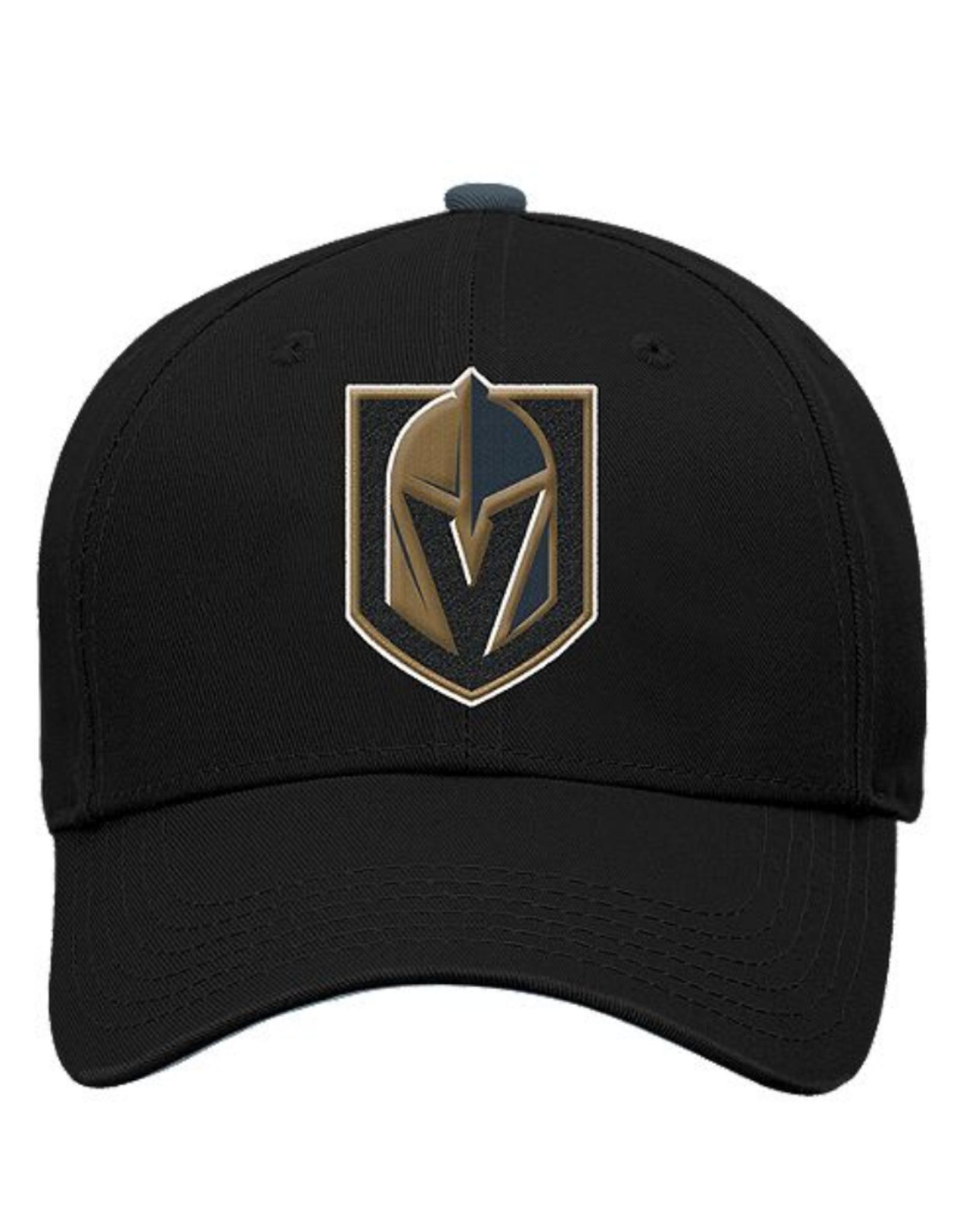 NHL Youth  Basic Structure Adjustable Hat Golden Knights Black
