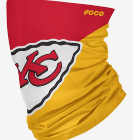 FOCO FOCO Adult Big Logo Gaiter Scarf Kansas City Chiefs