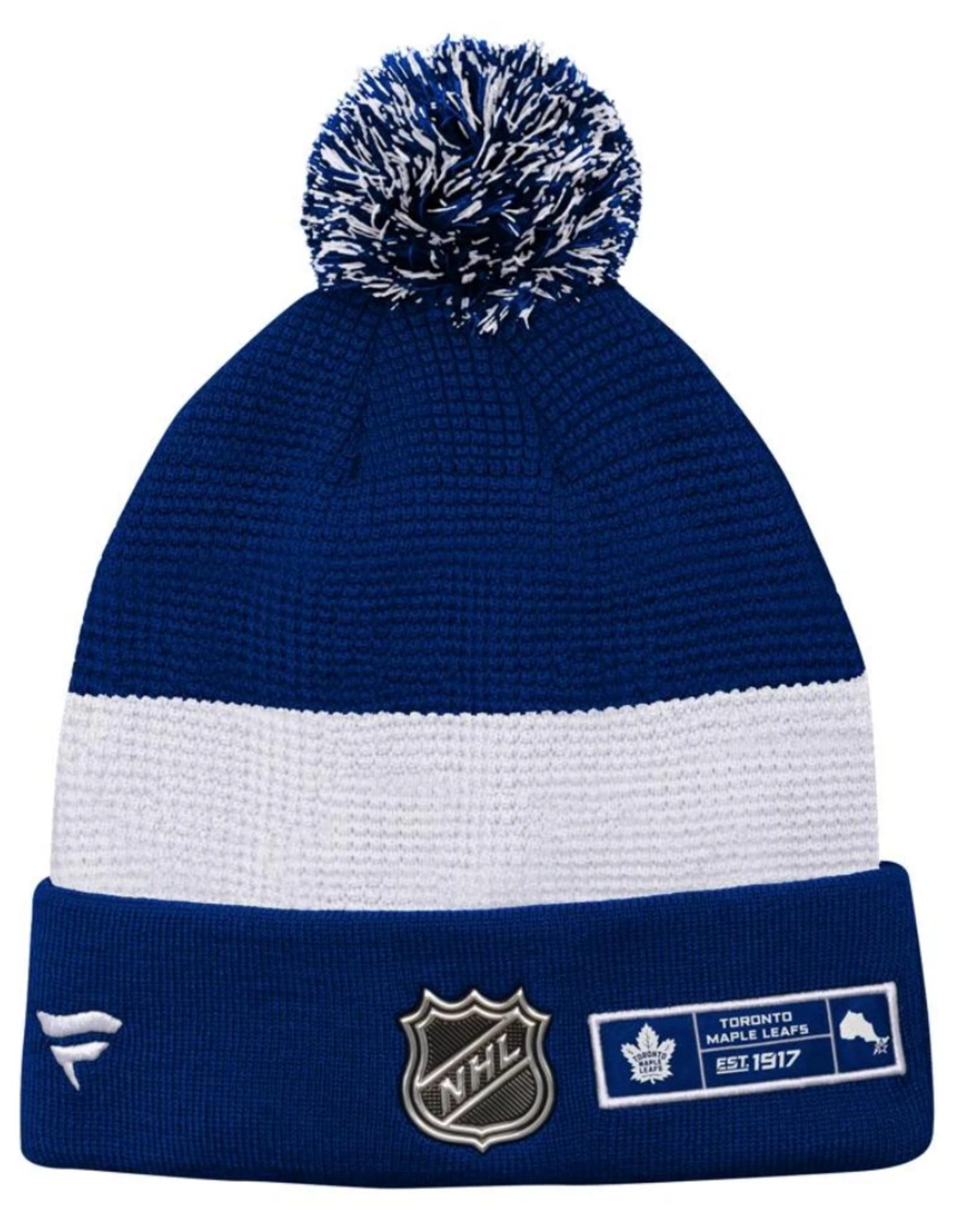 Fanatics Fanatics Men's Locker Room '20 Draft Knit Toronto Maple Leafs Blue