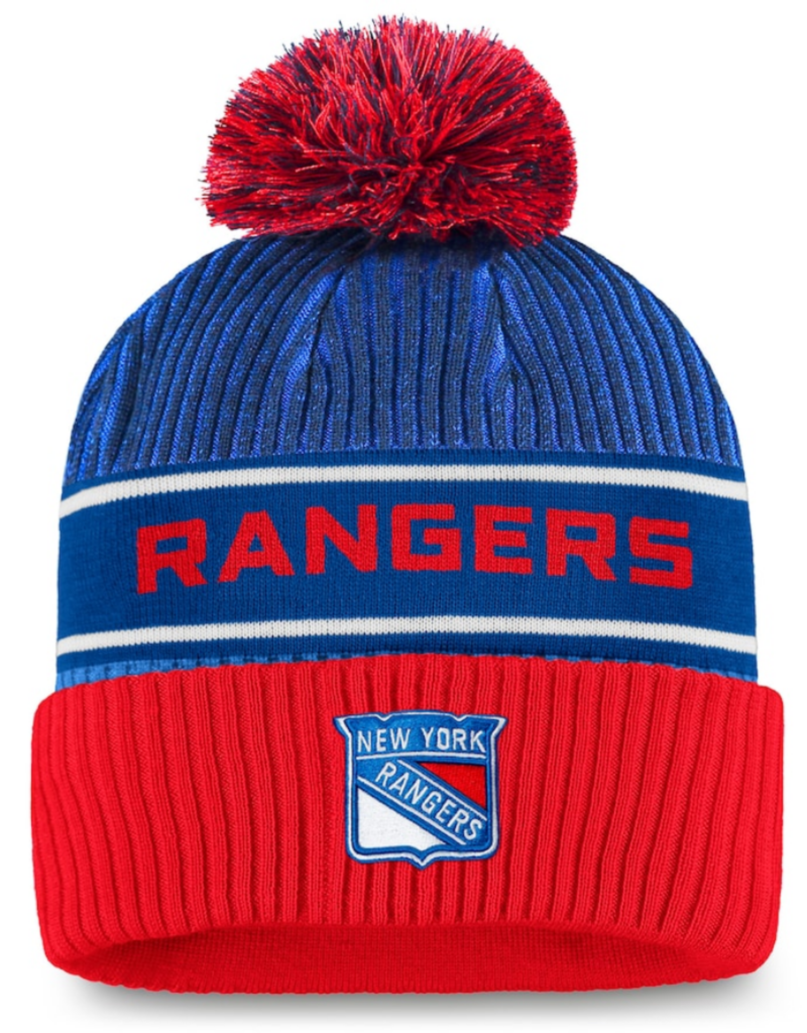 Fanatics Fanatics Men's '20 Locker Pom Knit New York Rangers Blue