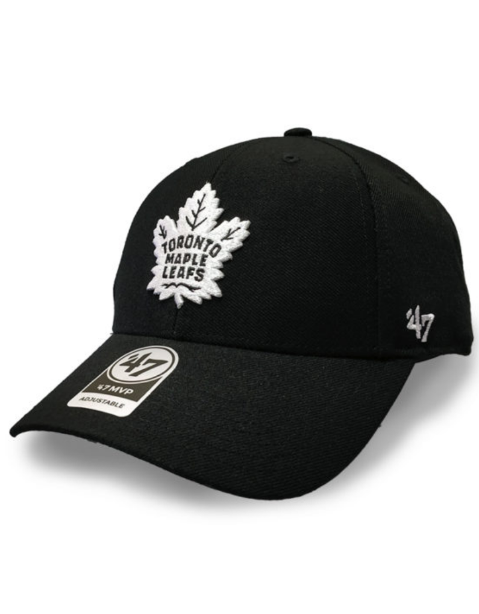'47 Men's MVP Primary Logo Adjustable Hat Toronto Maple Leafs Black
