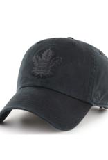 '47 Men's Clean Up Adjustable Hat Toronto Maple Leafs Black on Black