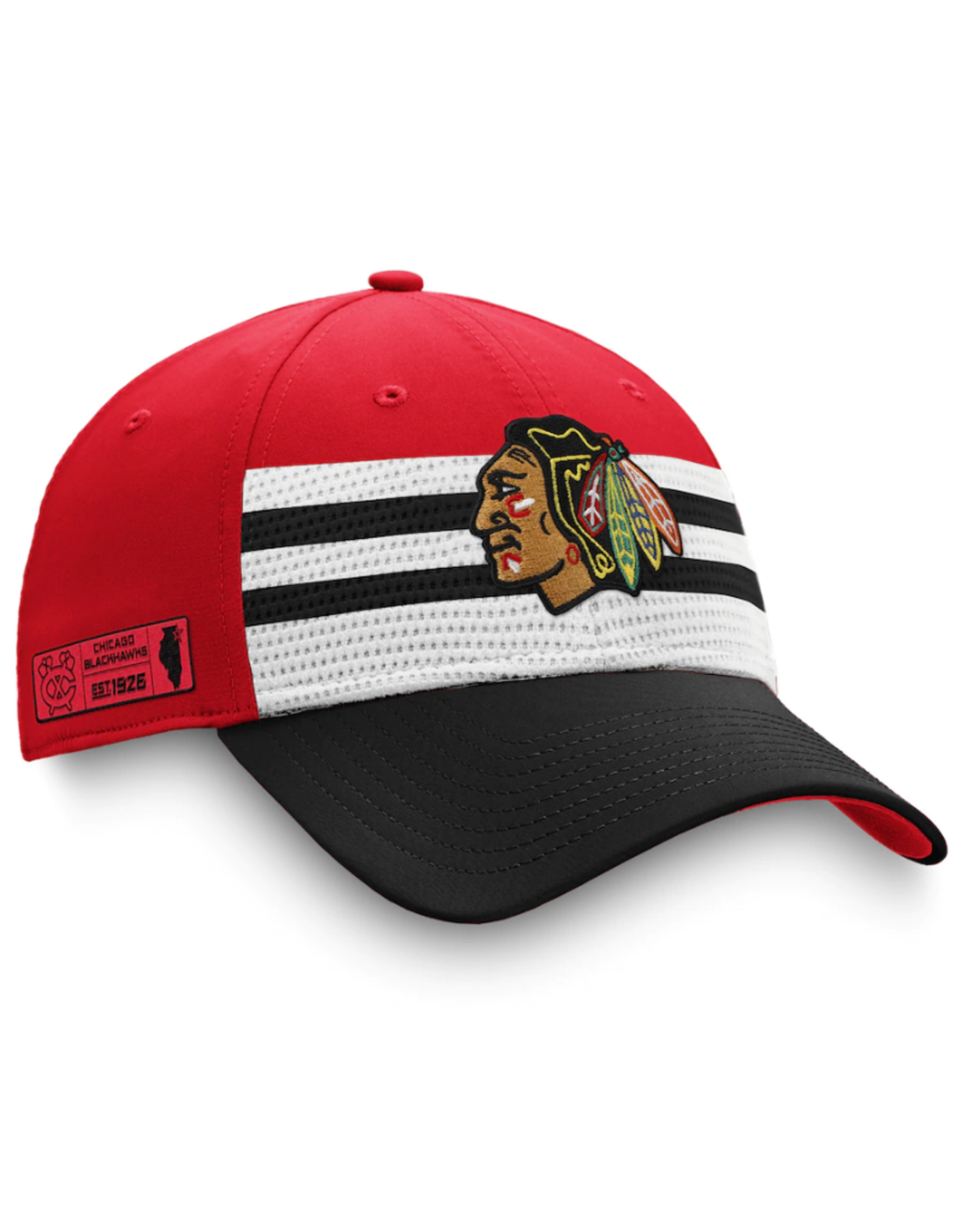 Fanatics Fanatics '20 Authentic Pro Draft Flex Hat Chicago Blackhawks Red