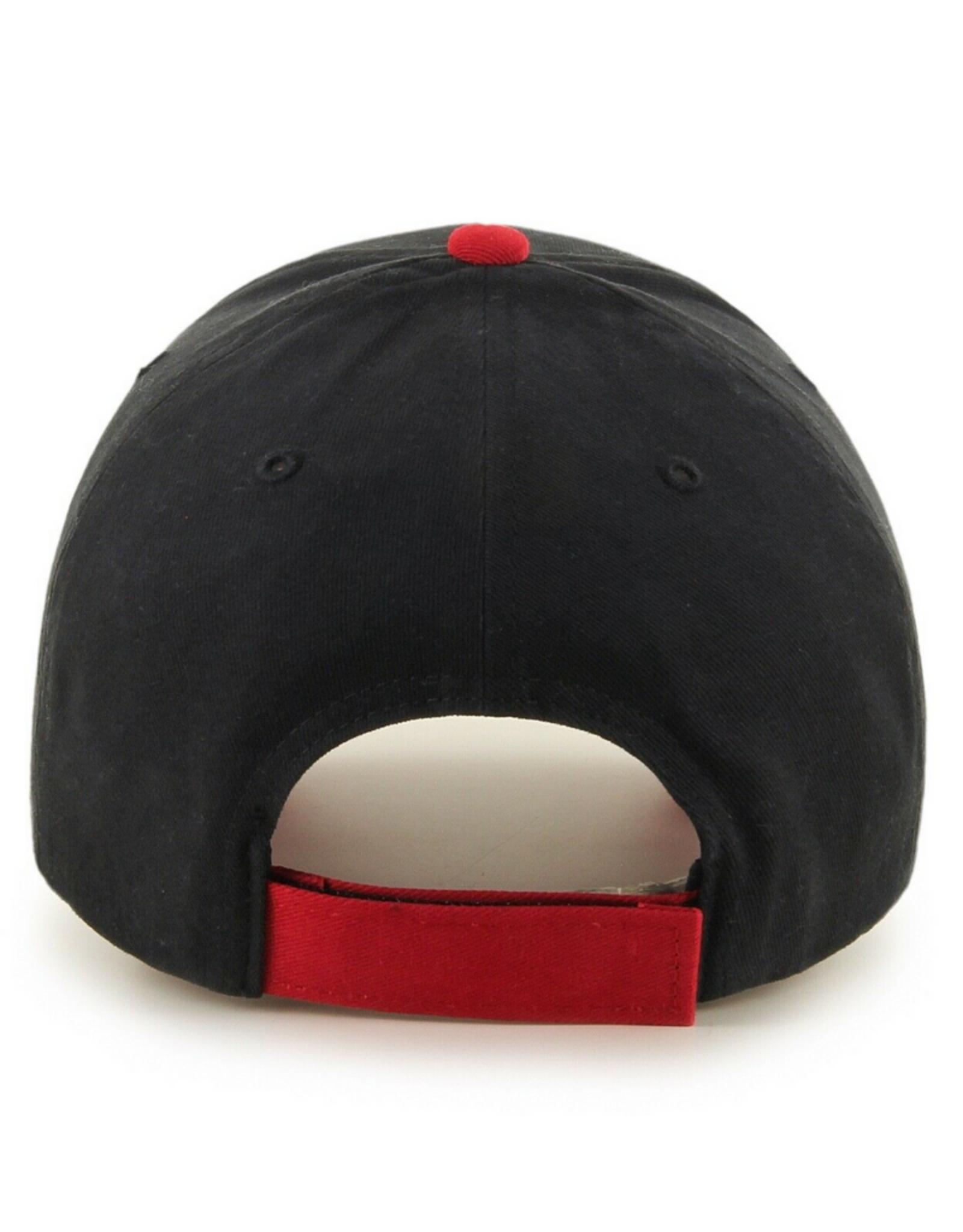 '47 Youth Short Stack MVP Adjustable Hat Toronto Raptors Black Red