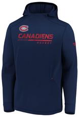 Fanatics Fanatics Men's Authentic Pro Locker Room Pullover Hoodie Montreal Canadiens Navy