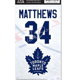 Mustang Mustang Player Decal Matthews #34 Toronto Maple Leafs