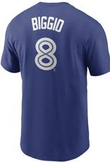 Nike Men's Player T-Shirt Biggio #8 Toronto Blue Jays Royal