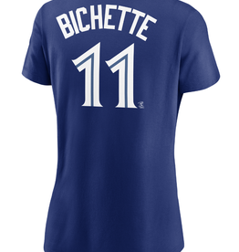 Nike Women's Player T-Shirt Bichette #11 Toronto Blue Jays Royal