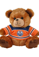 "Forever Collectables FOCO Seated Jersey Bear 7.5"" Edmonton Oilers"