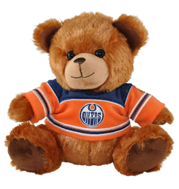 """Forever Collectables FOCO Seated Jersey Bear 7.5"""" Edmonton Oilers"""
