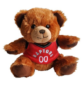 "Forever Collectables FOCO Seated Jersey Bear 7.5"" Toronto Raptors"