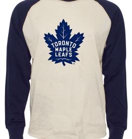 '47 Men's Team Logo Raglan Tee Toronto Maple Leafs Cream/Navy