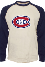 '47 Men's Team Logo Raglan Tee Montreal Canadiens Cream/Navy