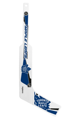 Inglasco Mini Plastic Goalie Stick Toronto Maple Leafs White