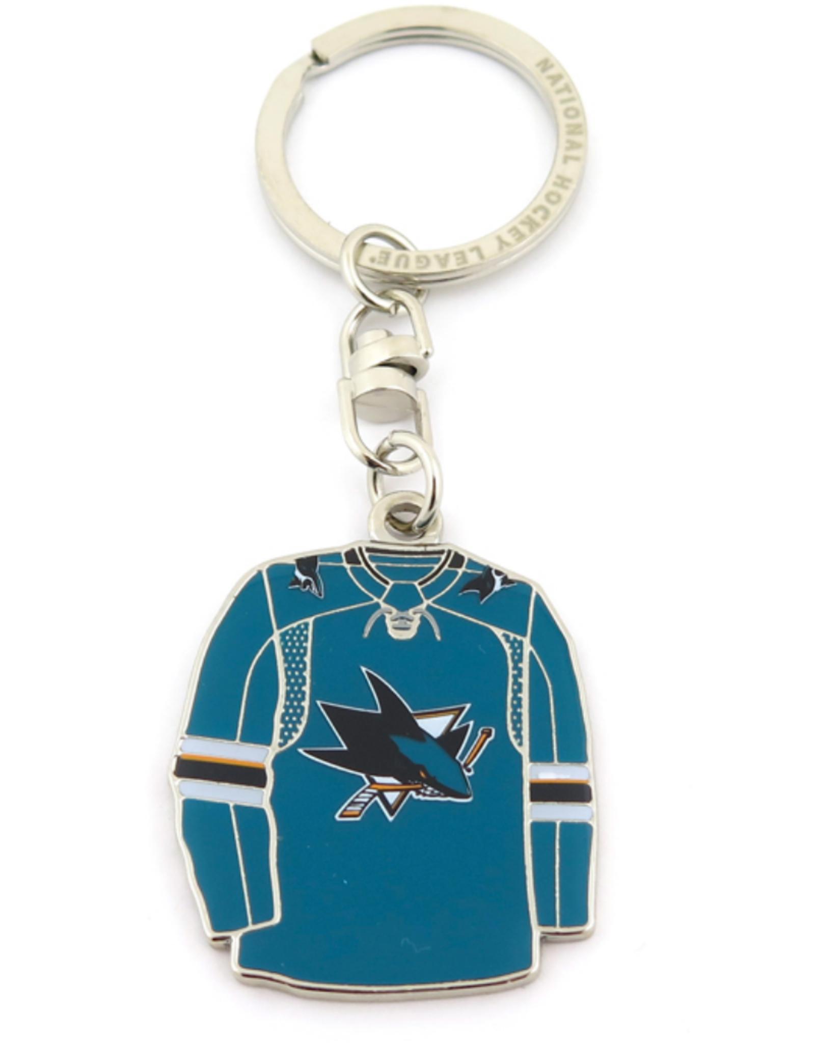 JF Sports Home/Away Keychain San Jose Sharks