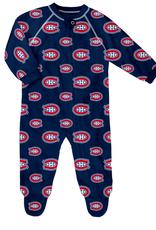 NHL Child Raglan Zip up Coverall Onesie Montreal Canadiens